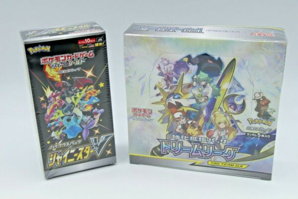 1 BOX EACH Pokemon Card Shiny Star V amp; Dream League Japanese NEW DHL from Japan