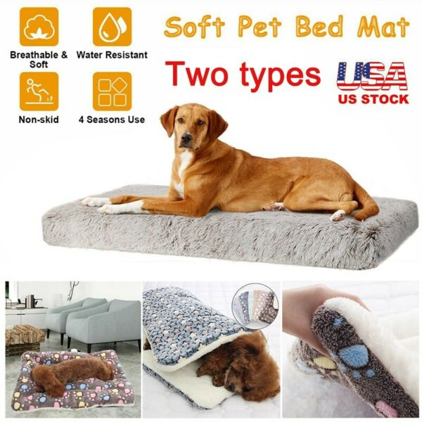 Orthopedic Dog Bed Pet Lounger Deluxe Cushion for Crate Foam Soft Large XLarge $45.99