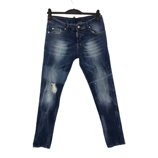 Dsquared2 Size 44 Blue Distressed Straight Leg Cool Guy Jeans W34 L33 S71LB0020 GBP 149.00