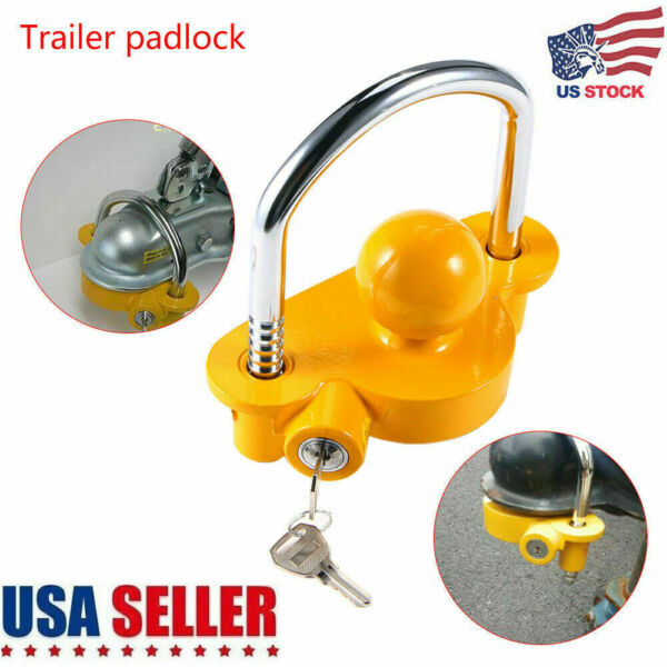 Hitch Lock Universal Coupler Trailer Lock Ball Adjustable For 1 7 8quot; 2quot; 2 5 16quot; $17.99