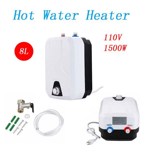 Instant Hot Water Heater 110V 8L 1500W Home Instant Heater Bathroom Shower $92.04