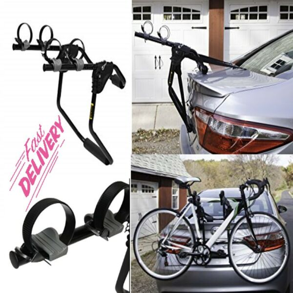 2 Bicycle Bike Rack Trunk Rack Hitch Mount Carrier Car Sedans Hatchbacks Vans $41.06