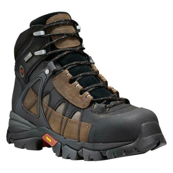 Men#x27;s Timberland PRO 6 Hyperion Alloy Toe Waterproof Boots Brown 13M $105.00