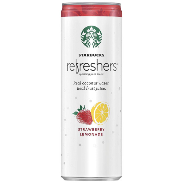 Starbucks Refreshers with Coconut Water Strawberry Lemonade 12 fl Oz. Cans 1