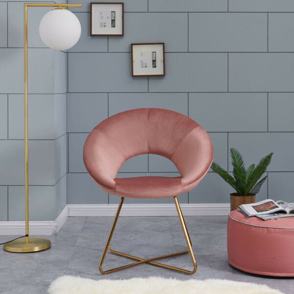 Duhome Chic Accent chair for small space Living Room Easy Assembly Pink