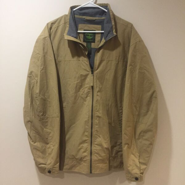 Timberland Full Zip Khaki Jacket Men's XL 36543 $33.00
