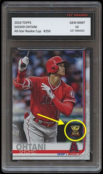 SHOHEI OHTANI TOPPS ALL STAR ROOKIE CUP 1ST GRADED 10 CARD LOS ANGELES ANGELS $29.24