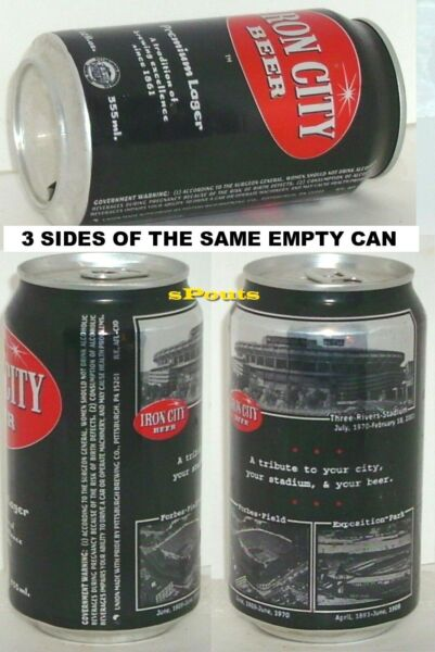 PITTSBURGHPA.SPORT BLACK BEER CAN FORBES FIELDEXPOSITION PARK*3 RIVERS STADIUM