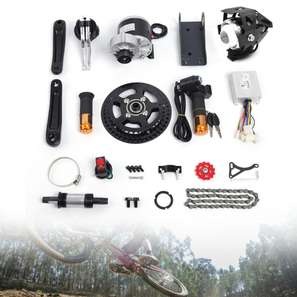 450W 48V Electric Bicycle Mid Drive Motor Conversion Kit Refit E bike DIY Parts $219.01
