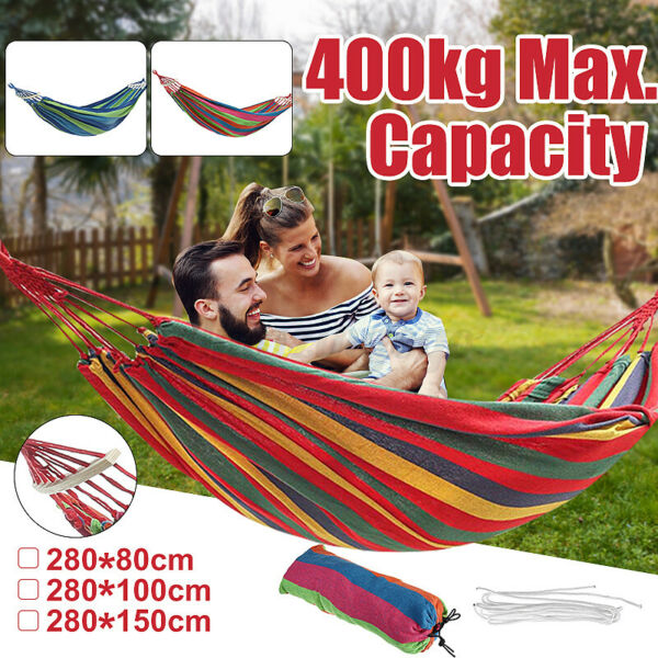 Portable Hanging Hammock Swing Garden Patio Beach Traveling Chair Bed Yard New $16.10