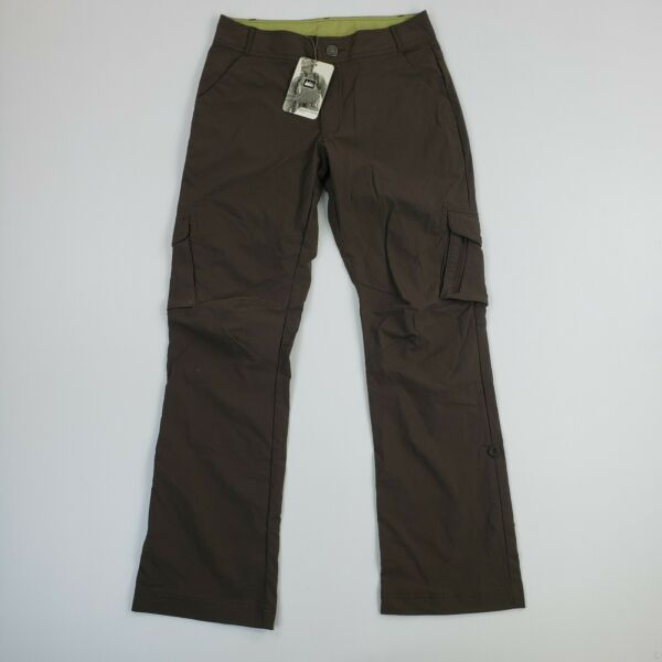 NEW REI Womens Sahale Pants Camping Hiking Convertible Outdoor Brown Trousers 6 $19.99