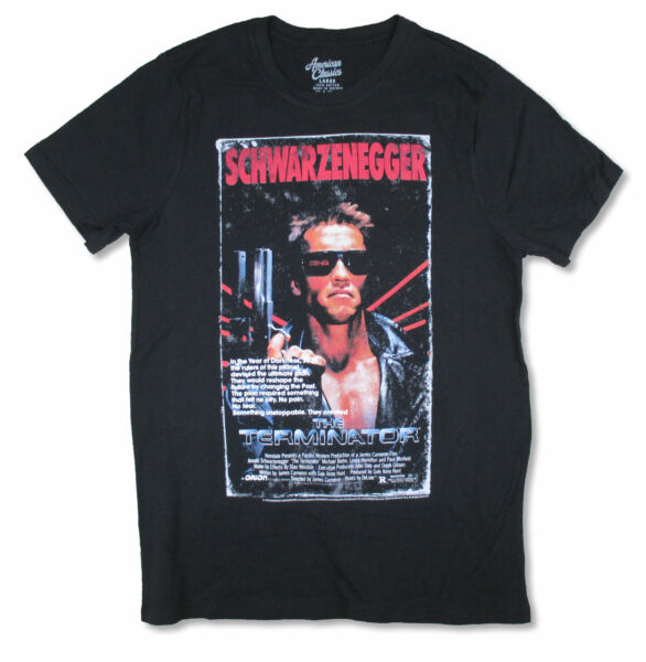 The Terminator Admat Arnold Black T Shirt NEW OFFICIAL