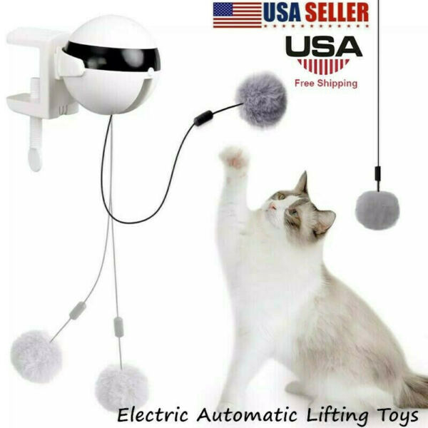 Electric Automatic Lifting Cat Ball Toy Interactive Puzzle Smart Pet Teaser Toy $16.37