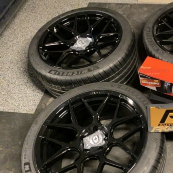 Gloss black HRE wheels 5x120 1 front 1 rear 20x10.5 and 20x9 $850.00