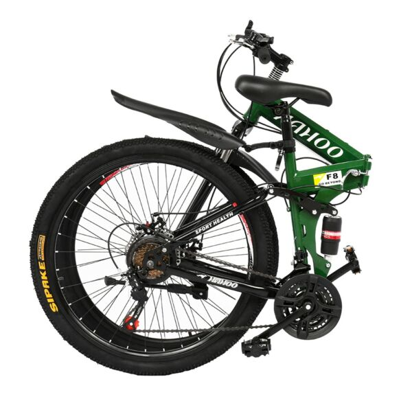 Folding Mountain Bike 26 inches wheels full suspension 21 Speed mens Bicycle $182.99