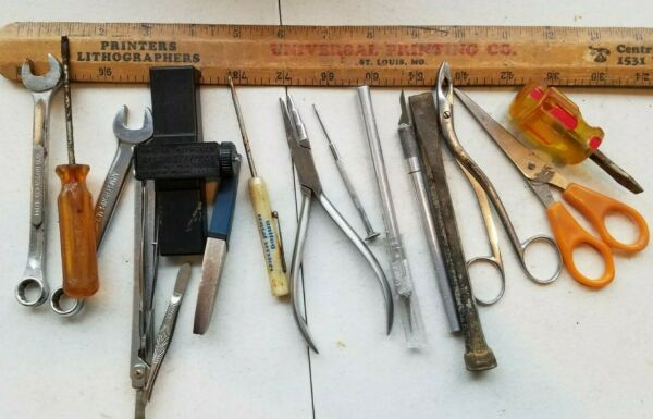 15 Miscellaneous Vintage Small Tools Lot htrk9