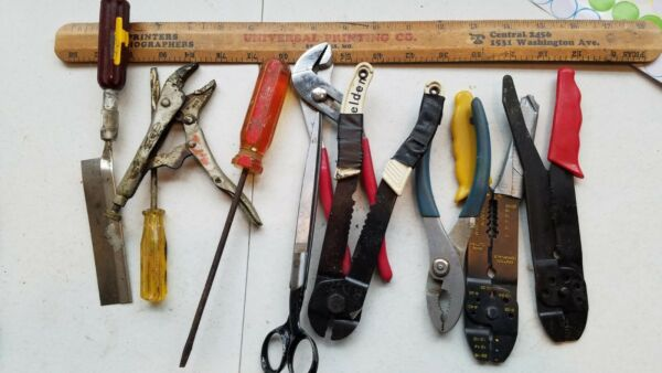 10 Miscellaneous Vintage Small Tools Lot edsgfss