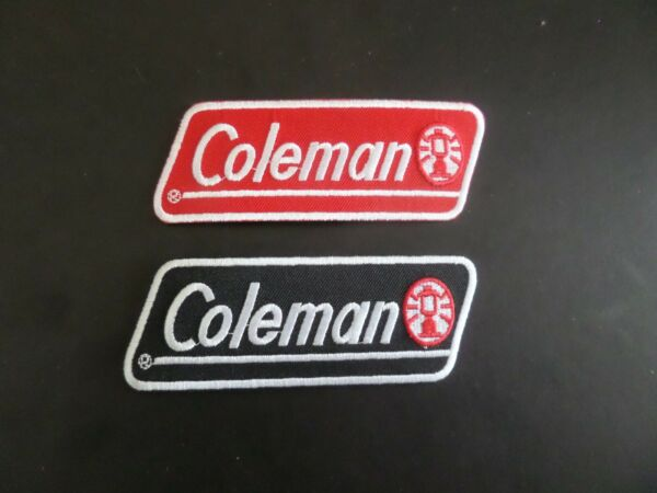 LOT OF 2 DIFFERENT COLEMAN LANTERNS EMROIDERED IRON ON PATCH $6.99