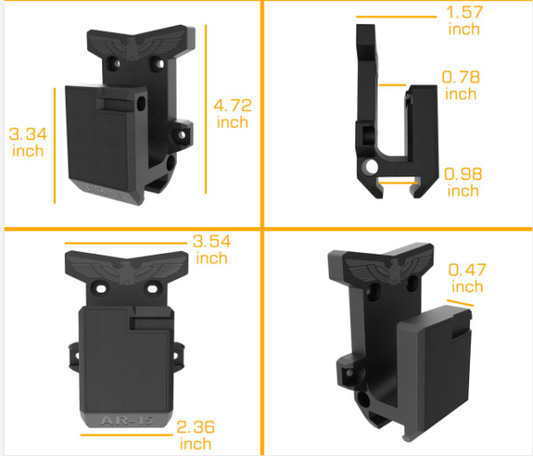 For Gun Wall Mount Withstand 300Lbs of Tension Safe Wall RackGun holder.15 $15.49