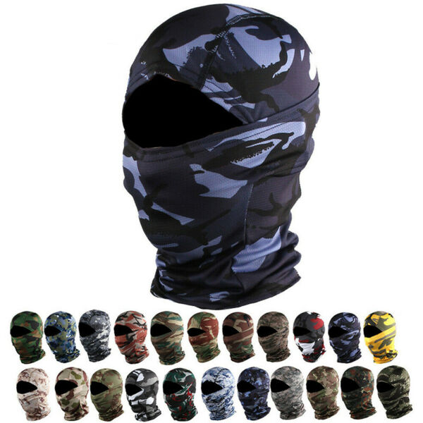 Hunting Camo Balaclava Face Mask Neck Gaiter Snoods CS Outdoor Sports Headwear
