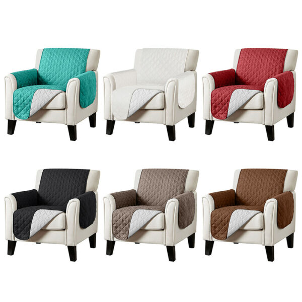 Waterproof Quilted Sofa Cover Chair Couch Slipcover Furniture Protector Non Slip $15.98
