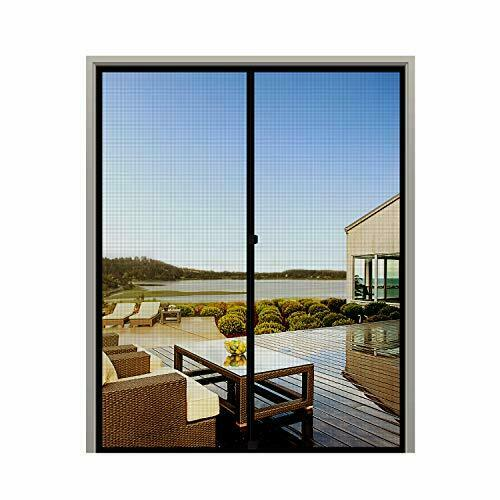 MAGZO French Screen Door 72 x 80 Durable Fiberglass Mesh with Heavy Duty Full...