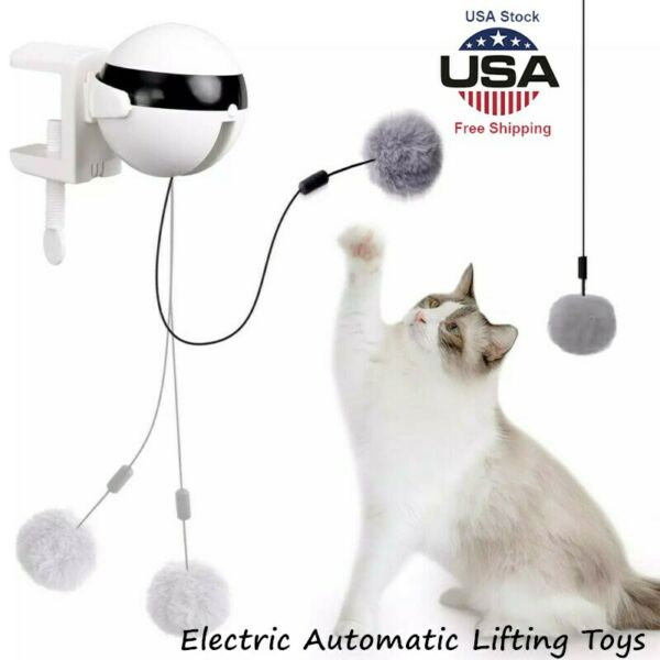 Electric Automatic Lifting Cat Ball Interactive Puzzle Smart Pets Teaser Toys US $16.88