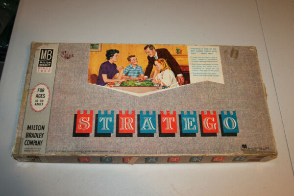 Vinitage 1961 Milton Bradley Stratego game. Complete in box. 4916