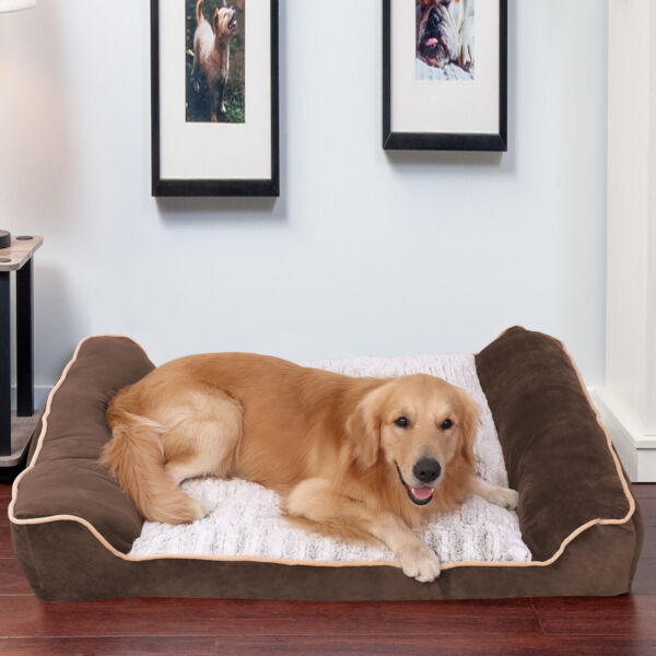 Deluxe Extra Large Foam Dog Sofa Mattress Bed Joint Relief Waterproof Lounge $69.96