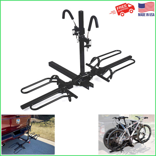 New Heavy Duty 2 Bike Car Truck SUV 2quot; Hitch Mount Carrier Platform Bicycle Rack $149.95