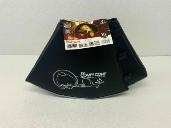 Comfy Cone XL Soft Pet Protective Recovery Collar Removable Stays Black $22.99