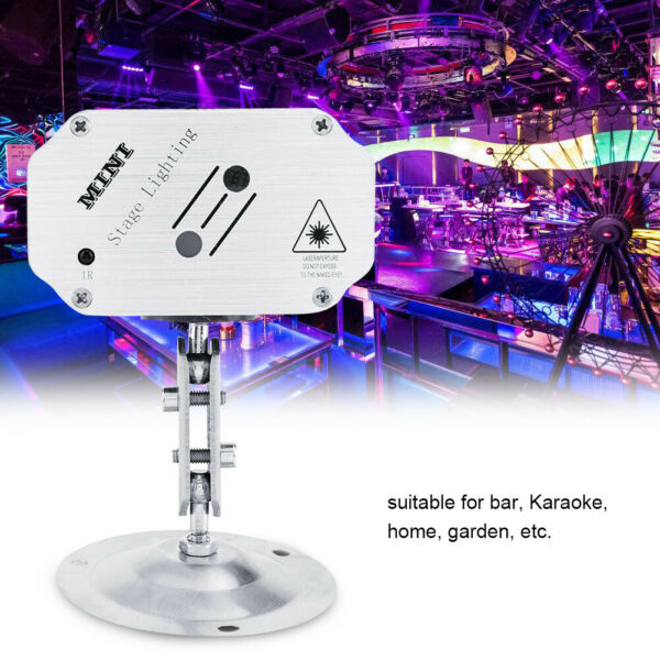 LED Laser Pattern Projector Stage Light Strobe Party Show Xmas Lamp W Remote