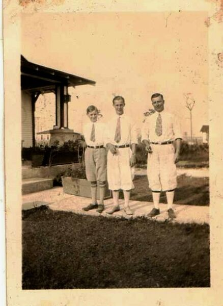 Old Vintage Antique Photograph Three Men Wearing Cool Outfits