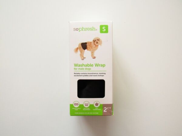 Dog Male Wraps So Fresh 2 Reusable Washable size small $8.00