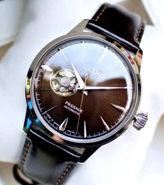 Seiko Presage Brown Dial Leather Band Automatic Watch SSA407 AUTHENTIC $299.99