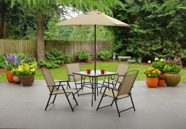 Mainstays Albany Lane 6 Piece Outdoor Patio Dining Set $145.49