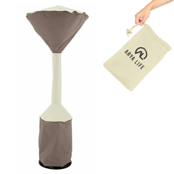 NEW Stand Up Patio Heater Cover 210D Lightweight Waterproof Heater Kakhi Brown