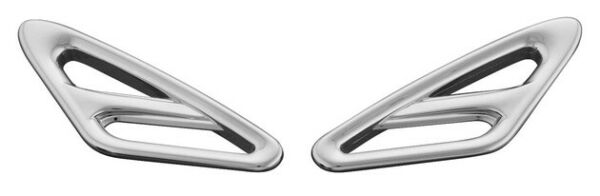 Show Chrome Fender Accent Fillers Front Fits Honda GL1800 Gold Wing 2001 2013