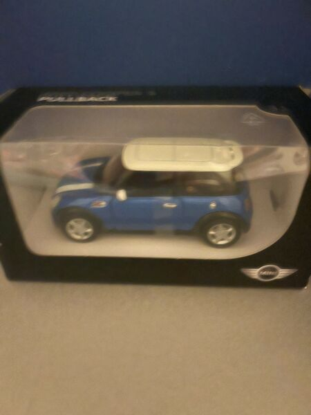 Mini Cooper S Pullback Toy Car Blue With White Roof BMW Group $12.99