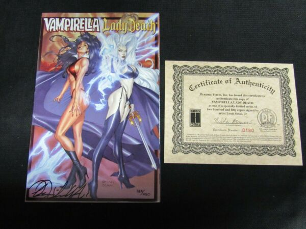 Vampirella Lady Death Limited Edition Signed by Louis Small Jr. DF COA JM654 $44.95
