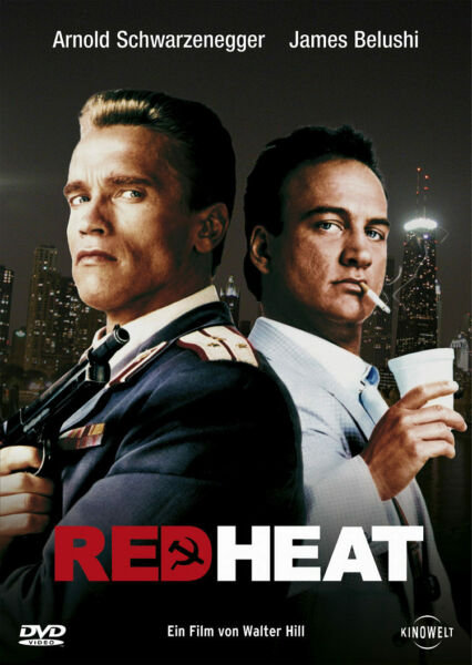 Red Heat 80s Schwarzenegger Action Movie Poster Iron On T Shirt Transfer GBP 1.29