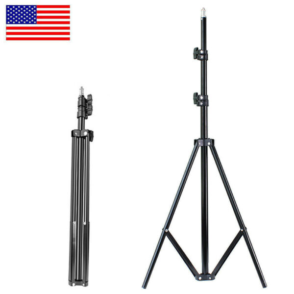 Adjustable Tripod Stand for LED Ring Light Studio Photography Makeup Phone US