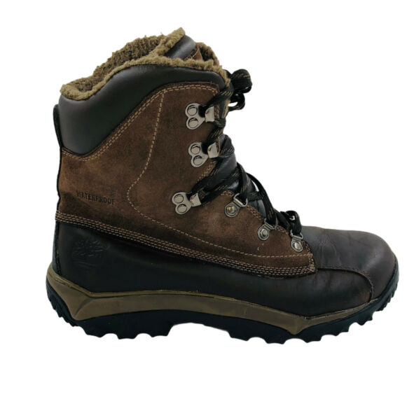 Timberland Size 7M Thermolite Genuine Brown Leather Boots #40123...Water Proof $25.17