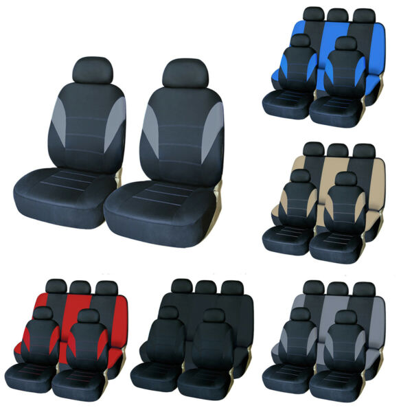 Universal Car Seat Covers Front Rear Car Protector Headrests for Truck SUV Van $18.99