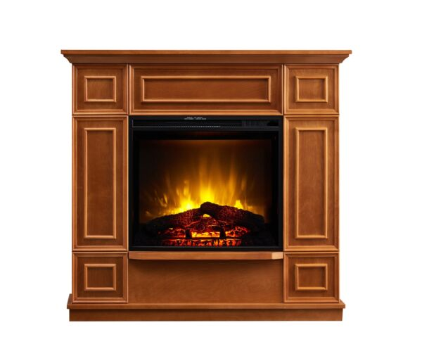 Bold Flame 43.31 inch Electric Fireplace in Golden Oak