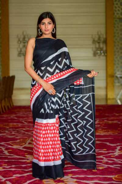 Handmade Soft Cotton Saree For Women With Blouse Mulmul Cotton Sari For Wife $37.19