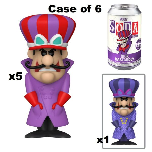 FUNKO SODA DICK DASTARDLY SEALED CASE OF 6 INCLUDES CHASE