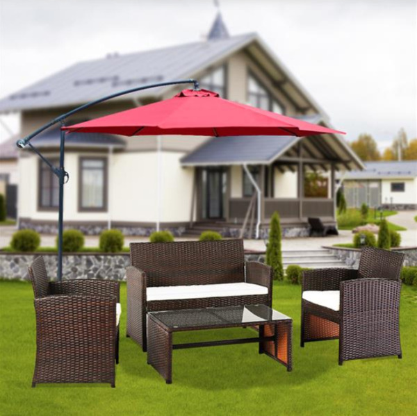 Outdoor Patio Furniture Sets Sectional Sofa Rattan Chair Wicker Set 4 Pieces $269.00