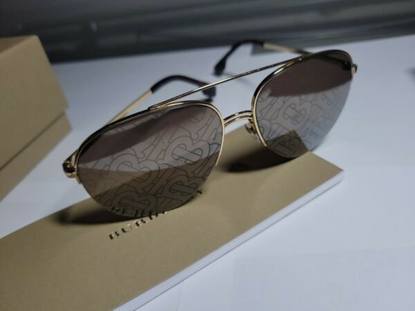 Brand New Burberry Sunglasses BE 3113 110913 Gold Brown Gradient For Women $99.99