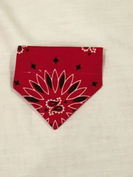 Over Collar Slide On Pet Dog Cat Bandana RED BANDANA XSMALL $2.25